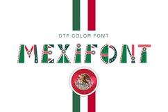 OTF color font Mexifont Product Image 1