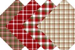 Christmas Digital Paper  - Plaid Digital Paper Product Image 5