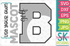 Your Own Mascot B Golf SVG DXF EPS PNG JPG Product Image 1