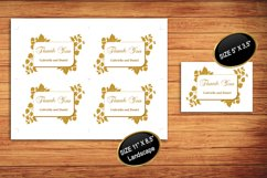 Gold Thank You Card Template, instan download, DAD_09 Product Image 2
