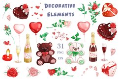 Valentine's Day. Vector clipart. Elements. Product Image 2