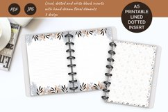 Printable writing paper lined dotted blank insert. A5 size Product Image 1
