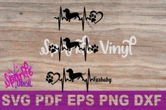 Svg dachshund heartbeat dog print printable or cut file svg bundle dxf eps pdf png files cricut silhouette dachshund gift for dog lover dachshund Product Image 4
