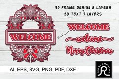 3d Layered Christmas SVG Frames | Multi Layered Product Image 1
