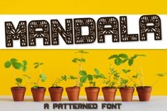 Mandala - A Fun Patterned Font - Perfect for Monograms Product Image 1