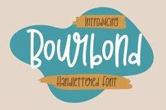 Web Font Bourbond - Handlettered Font Product Image 1