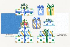 Watercolor Christmas Cars Clipart Product Image 4