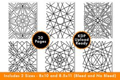Geometric Coloring Pages - PDF,PNG, JPG files. Printable Product Image 4