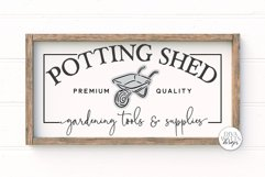 Potting Shed SVG   Farmhouse Sign   DXF and More Product Image 1