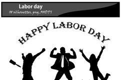 Labor day silhouette / printable labor day silhouette / vector graphics labor day / DIY cut / craft work / building / computer silhouette Product Image 3