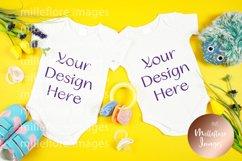 Baby Wear Onesie Bodysuit Bib Mockup Styled Photo Bundle Product Image 4