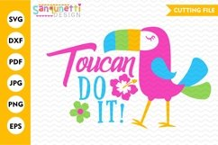Toucan do it parrot SVG file, summer tropical cutting file Product Image 1