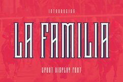 Web Font LaFamilia Font Product Image 1