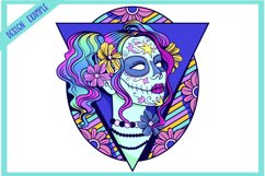 Sugar Skull SVG Collection   Calavera Ladies SVG Product Image 3