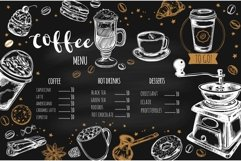 Coffee and bakery illustrations with menu templates Product Image 6