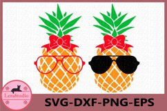 Pineapple with glasses SVG, Pineapples SVG, cut files Product Image 1