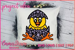 THE CUTE EASTER CHICK SVG BUNDLE 6 MANDALA ZENTANGLE DESIGN Product Image 6
