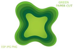 Abstract design background with green and blue cut paper Product Image 4