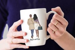 Couples Clpart Elegant man and women Valentines Clipart Png Product Image 7