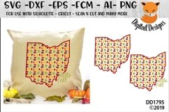 Ohio Autumn Fall Leaves Pattern SVG Product Image 1