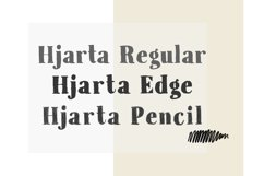 Hjarta - A Pencil Drawn Font Trio Product Image 2