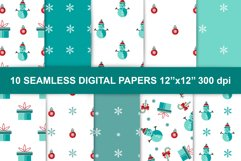 Merry Christmas and New Year digital papers collection Product Image 1
