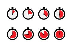 Timer stopwatch icon set Product Image 1