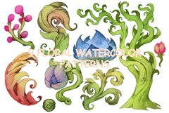Watercolor floral patterns Product Image 1