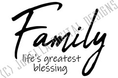 Family Life's Greatest Blessing SVG, Sublimation PNG & Print Product Image 3