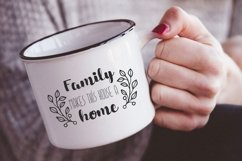 Family makes this house a home svg dxf Family Quote clipart Product Image 4