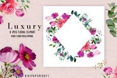 Watercolor floral frames, floral clipart, romantic borders Product Image 3