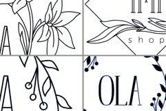 Minimalistic logo set. Logo templates. Schedule. Product Image 5