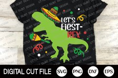 Cinco de Mayo Svg, Mexican, Dinosaur kids shirts Svg, Trex Product Image 2