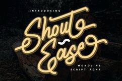 Shout Ease   Monoline Script Font Product Image 1