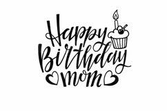 Happy Birthday Mom SVG DXF EPS PNG PDF. Birthday Design SVG Product Image 2