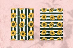 sunflower Vector Seamless Pattern Product Image 2