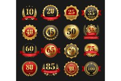 Anniversary golden signs set Product Image 1