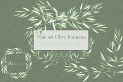 Olive branches. Watercolor clipart. Product Image 4