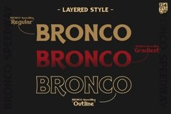BRONCO SpeedWay Layered Font Product Image 2