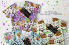 Cute Halloween Seamless Patterns, Bats Digital Papers Pack Product Image 8