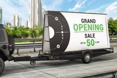 Mobile Billboard Trailer Advertising Sign Mockup Product Image 2