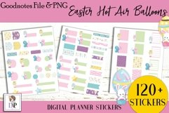 Easter Hot Air Balloon Digital Printable Stickers Goodnotes Product Image 2