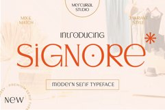 Signore - Serif Typeface Product Image 1