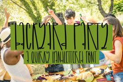 Backyard Party - A Quirky Handlettered Font Product Image 1