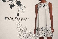 WILD FLOWERS Illustration Botanical Product Image 2