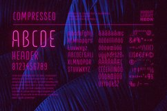 Night Light Neon Font - Compressed Product Image 4
