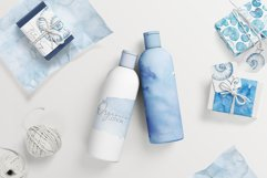 20 Huge Seamless Blue Watercolor Textures Product Image 6
