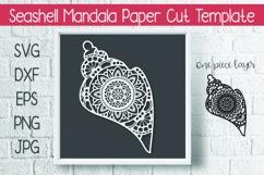Seashell Mandala Paper Cut Template Design SVG Product Image 1