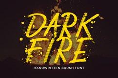 Dark Fire Brush Font Product Image 1