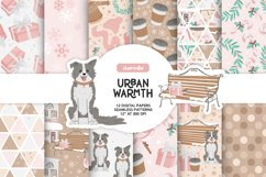 Pink Winter Digital Papers Product Image 1